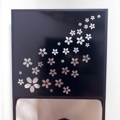 桜-四季の装いに合わせたパーテーション